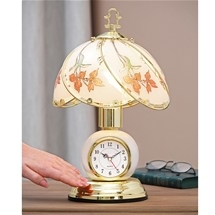 Touch Lamp with Clock