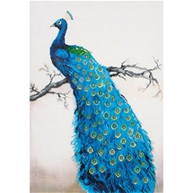 Blue Peacock - Diamond Dotz