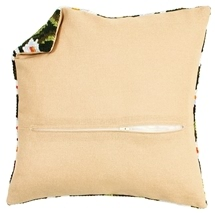 Cream Cushion Back with Zipper