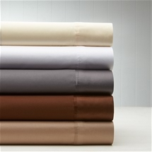 1000TC American Pima Cotton Sateen Plain Sheet Set