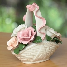 Ceramic Flower Arrangement Basket