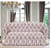 Italian Rouched Flower Sofa Covers