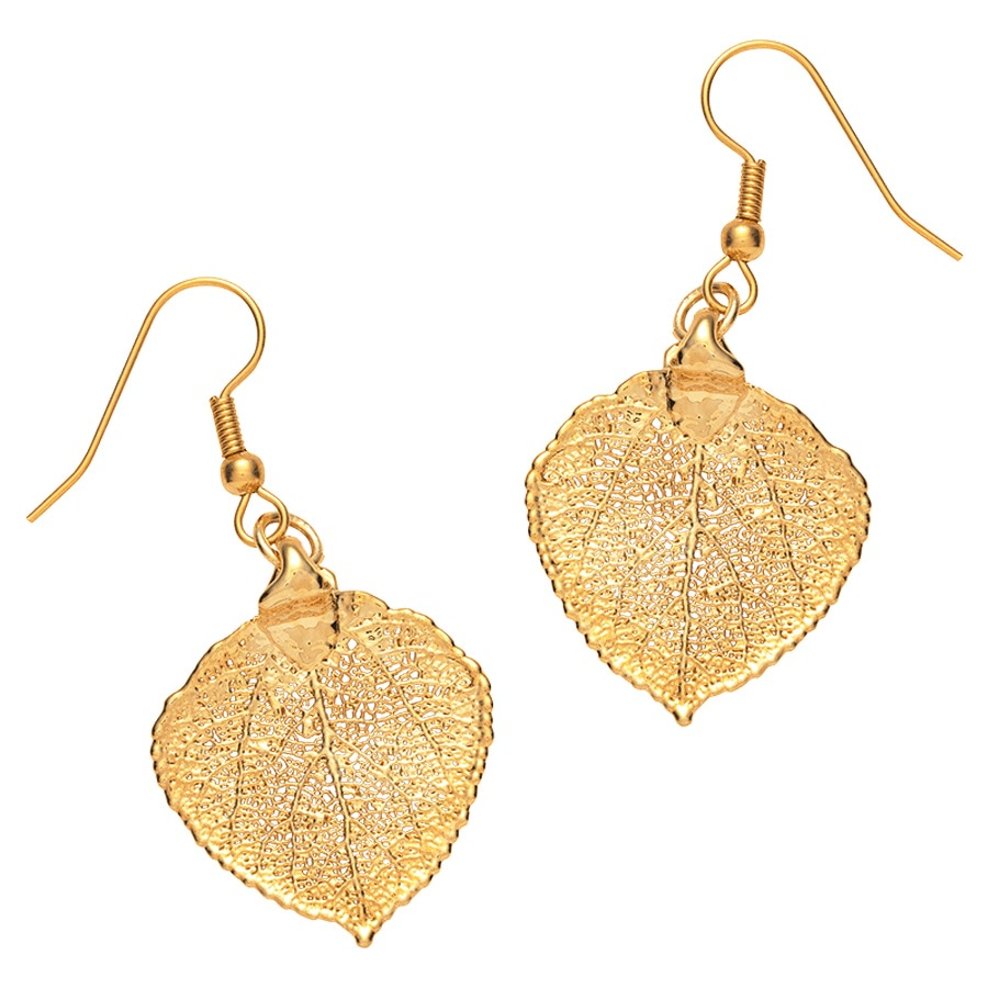 Golden Leaf Earrings_0810245_0