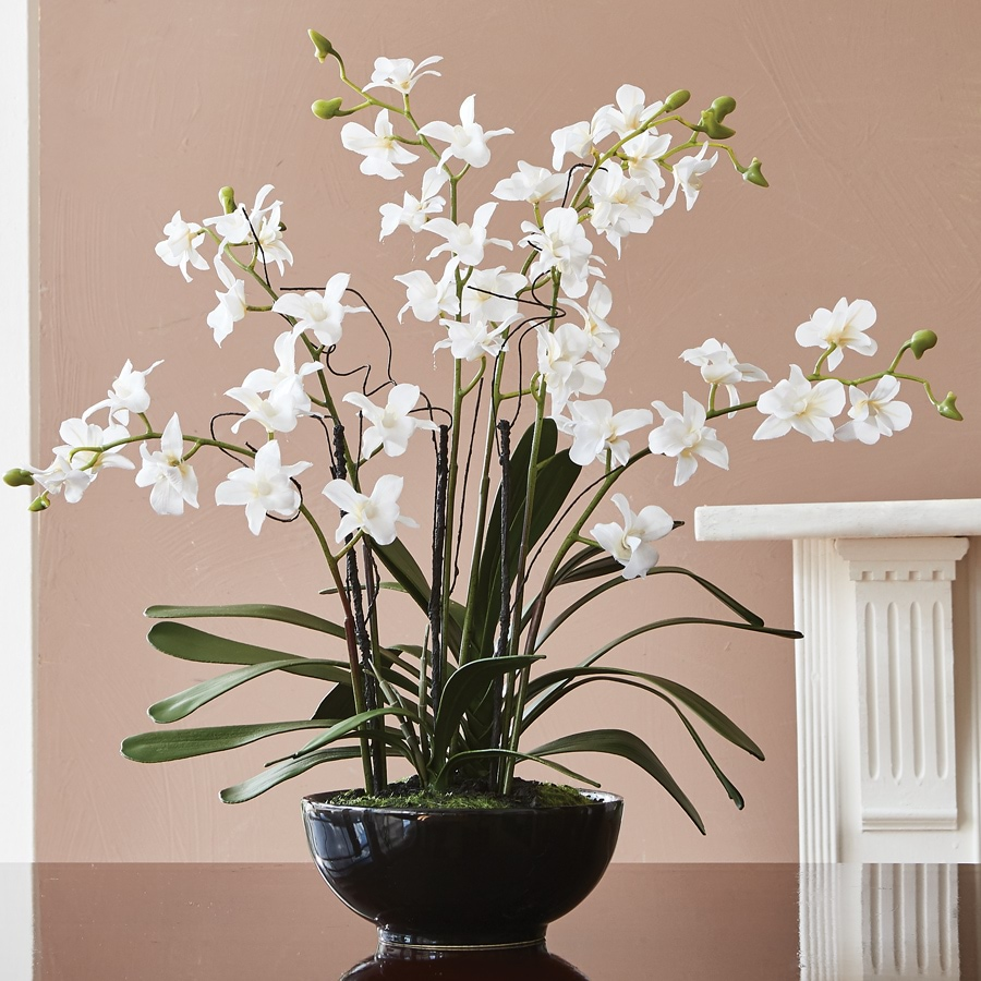 Artificial Orchid Pot_POTFL_0